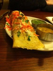hansa's - masala dosa - best vegan restaurants leeds
