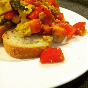 southern indian inspired scrambled tofu recipe (thanks aine carlin)