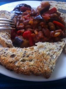 homemade baked beans brunch