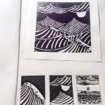 print project seascape linoprints