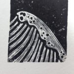 print projects linocut the sea