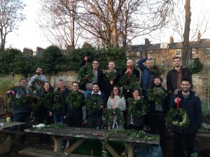 wreath workshops in london with a 6months pregnant lady