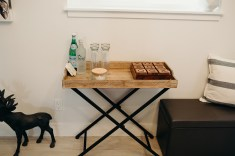 A Removable Tray top makes this piece a perfect indoor/outdoor server or snack porter:) It is from Walmart- $99