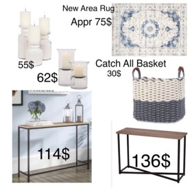 Budget Friendly shopping for a client who needs a welcoming entry way