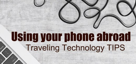 laptop and turntable, Using your phone abroad, www.theeducationaltourist.com