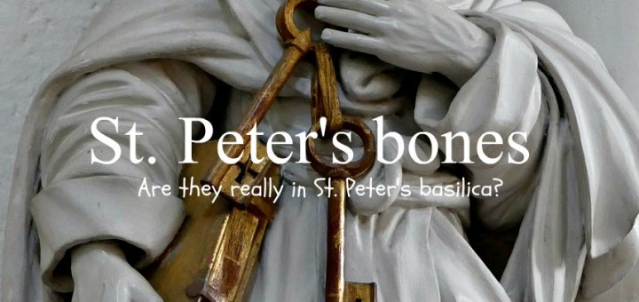 statue of St. Peter, St. Peter's bones, www.theeducationaltourist.com