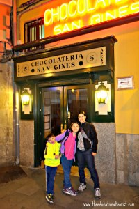 San Gines Chocolateria in Madrid Spain