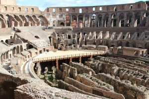 Inside Colosseum in Rome, Colosseum, www.theeducationaltourist.com