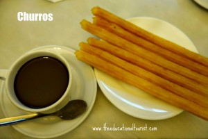 churros and chocolate, Kids and New Foods, www.theeducationaltourist.com