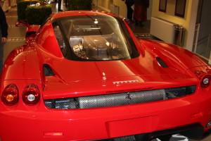 modern red Ferrari in museum, Ferrari Museum, www.theeducationaltourist.com