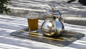 Morocco Area rug buying experience with mint tea