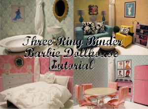 Three ring binder barbie house from Kendra at Southern Disposition, Activities for Traveling KIDS, www.theeducationaltourist.com