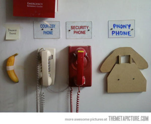 funny-old-phones-wall from The Meta Picture, Trip Planning Travel Technology, www.theeducationaltourist.com
