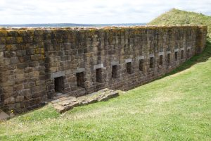 stone wall at Fort Beausejour in Canada, Canada Travel Itinerary, www.theeducationaltourist.com