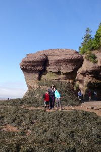 The Educational Tourist with kids Hopewell Rocks at how tide, Canada Travel Itinerary, www.theeducationaltourist.com
