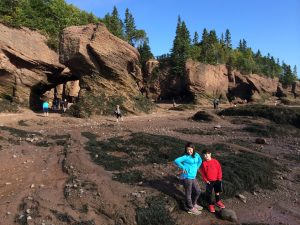 boy and girl at Hopewell Rocks, Canada Travel Itinerary, www.theeducationaltourist.com