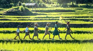 scouts marching in a green field, Mixed Media Activities for Traveling Kids, www.theeducationaltourist.com
