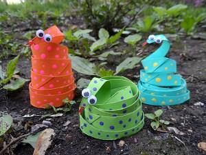 paper snakes craft photo from Amanda at Crafts by Amanda, Mixed Media