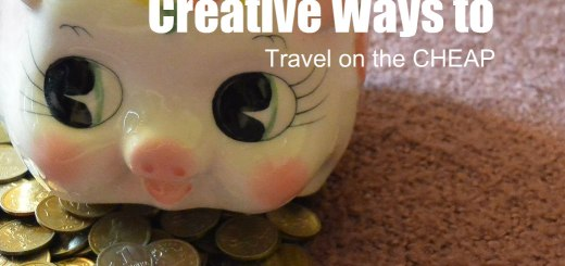 Piggy bank with coins, Travel on the Cheap, www.theeducationaltourist.com