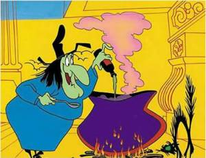 Witch Hazel from Bugs Bunny photo from Wikipedia, Witches, www.theeducationaltourist.com