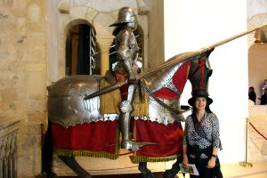 Knight and horse in armor in Madrid's Royal Palace, Visit Madrid, www.theeducationaltourist.com