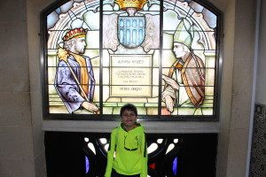 Boy in front of stained glass window, Traveling with Kids: Top Tips, www.theeducationaltourist.com