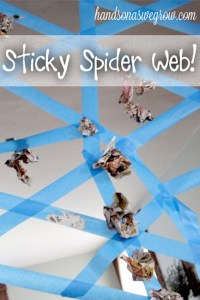 sticky-spider-web-activity, Choose the right toy, www.theeducationaltourist.com