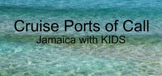 ocean water in shades of blue, cruise ports of call Jamaica with kids