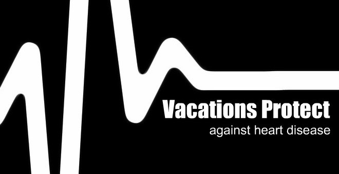 heart beat on a machine, Vacations protect against heart disease. www.theeducationaltourist.com