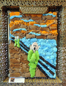 art -The Scream parody peep candy