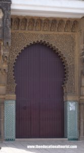 Purple Moroccan door with keyhole arch, Moroccan Doors, www.theeducationaltourist.com