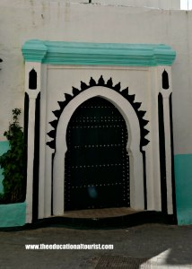 Ornate keyhole arch on Moroccan door in Tangier, Moroccan Doors, www.theeducationaltourist.com