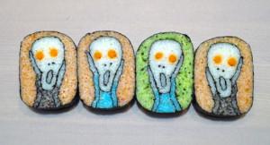 art - The Scream parody sushi