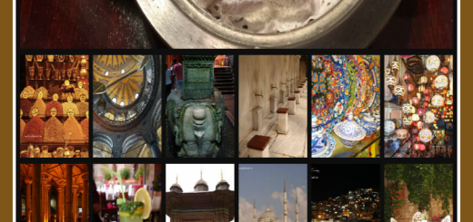Collage of photos about Turkey travel Turkish delight