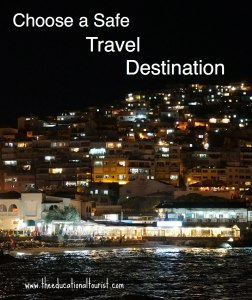 Evening in Kusadasi, Choose a Safe Travel Destination, www.theeducationaltourist.com