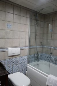 bathroom tile, Sirkeci Mansion Istanbul hotel, www.theeducationaltourist.com