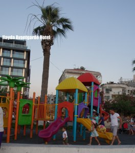 Ilayda hotel playground across street, www.theeducationaltourist.com
