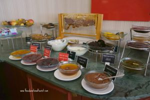 honeycomb breakast buffet, Sirkeci Mansion Istanbul, www.theeducationaltourist.com
