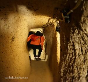 Tunnels underground city Kaymakli Turkey UNESCO