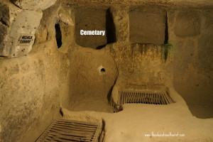 cemetery underground city Kaymakli Turkey UNESCO
