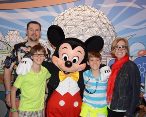 family with Mickey at Disney, Disney Made Easy, www.theeducationaltourist.com