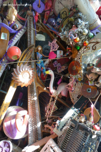 close up of wall in Austin's Cathedral of Junk