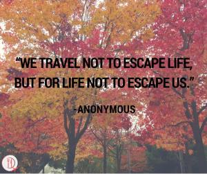 Travel Quote travel.not.to.escape.life