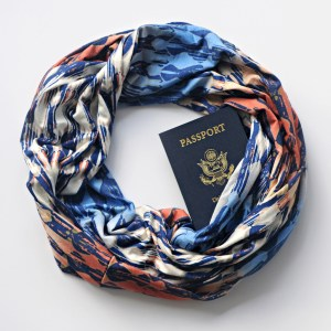 colorful infinity scarf that has a pocket for passport photo from Ensenada, Gift Ideas for the Lady Traveler, www.theeducationaltourist.com