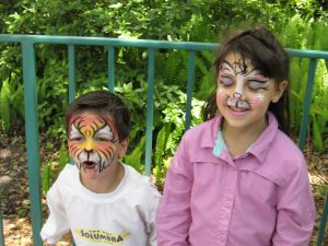 Use Ziploc bags for makeup remover. Disney kids painted faces