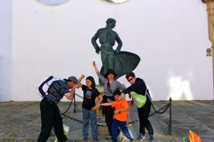 Silly family in Spain, Family Vacation with Grandchildren, www.theeducationaltourist.com