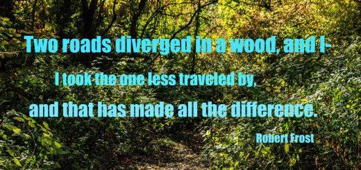 travel quote Robert Frost