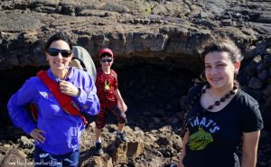 The Educational Tourist and kids in petroglyph area on Hawaii, Hilton Waikaloa Village, www.theeducationaltourist.com