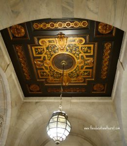 Ceiling inside New York Public Library, New York Public Library Visit, www.theeducationaltourist.com