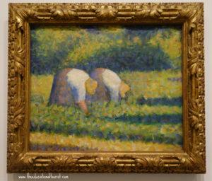 Farm Women at Work by Seurat, Guggenheim Tips, www.theeducationaltourist.com